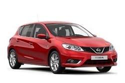 Стекло на Nissan Tiida C12 2013 -  Hatch