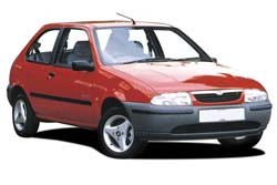 Стекло на Mazda 121 1996-2002